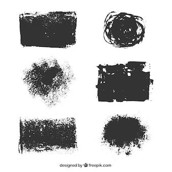 Variedade de manchas de tinta
