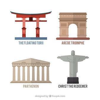 Variedade de monumentos