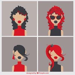 Variedade de mulheres modernas