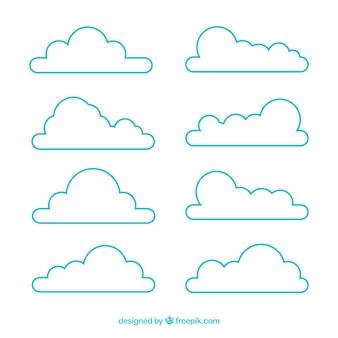 Variedade de nuvens