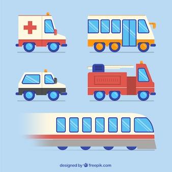 Variedade de transportes