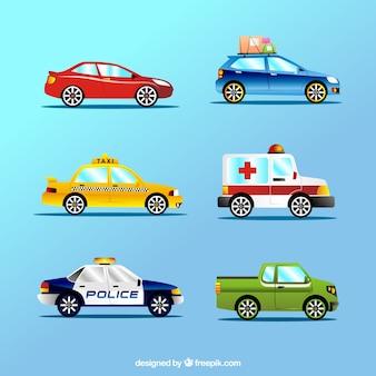 Variedade de veículos