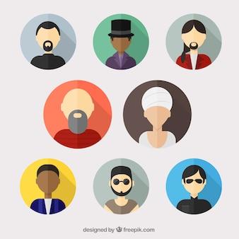 Variedade de homem avatars