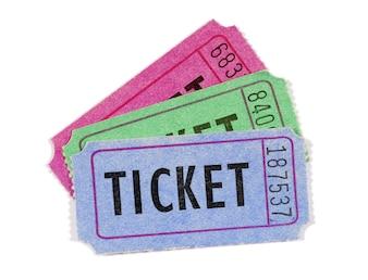 Vários ingressos para filmes ou rifas