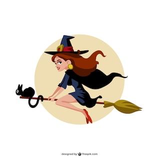 vector bruxa dos desenhos animados