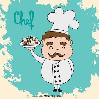 Vector cartoon chef