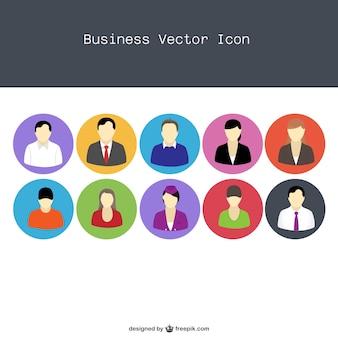 ícones lisos do povo profissional vetor
