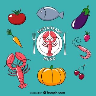 vector fundo do menu