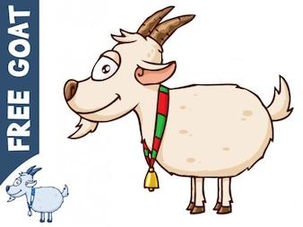 Vector cabra dos desenhos animados
