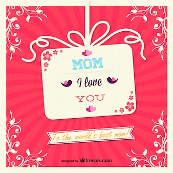 Projeto de cartão do presente do dia das mães vetor