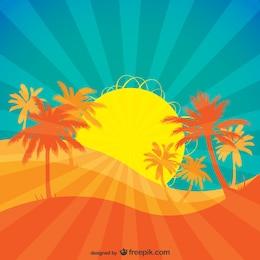 vector sol tropical em ascensão.