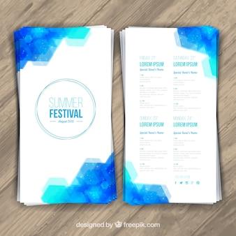 Verão festival panfleto