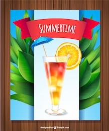 Verão fresco bebida vetor