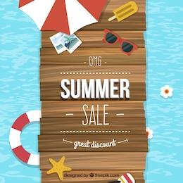 Verão venda fundo