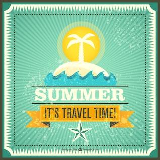 Verão vetor viagem