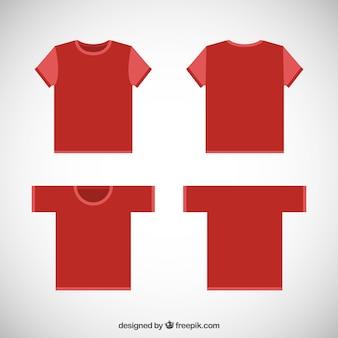 Vermelho camisetas