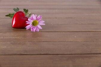 Vermelho, Coração, flor, tabela
