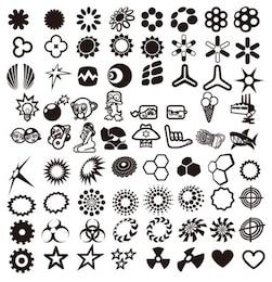 vetor desenho de recolha de elementos