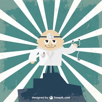 Vetor dos desenhos animados médico ilustração