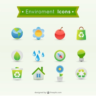 vetor ícones ambiental