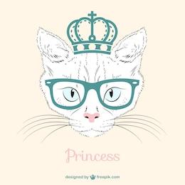 Vetor princesa gato