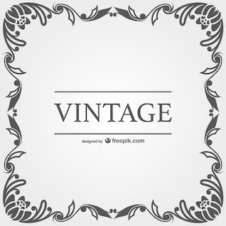 Vetor quadros ornamentais do vintage