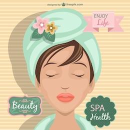 Vetor tratamento de spa