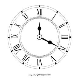 Vetor vintage clock