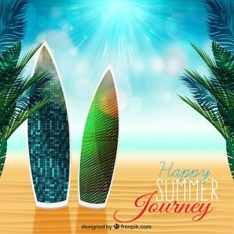 Viagem feliz verão