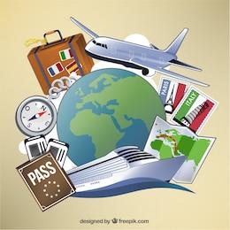 Viagens e turismo elementos