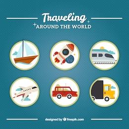 Viajando ao redor do mundo