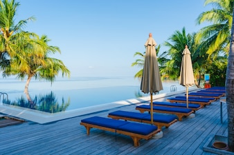 Viajar relaxamento hotéis de luxo guarda-chuva