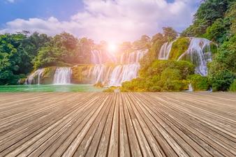 Vietnam background nature china tropical falls