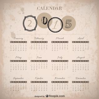 Vintage 2015 calendário