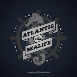 Vintage badge Sea Life