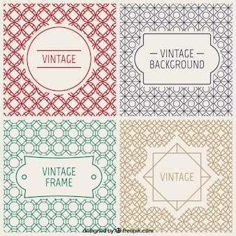 Emblemas do vintage e fundos decorativos