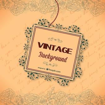 Cartão caligráfico do vintage