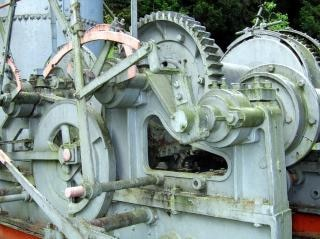 vintage coletor de madeira a vapor, de idade