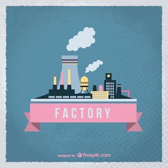 Vetor vintage fábrica