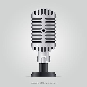 Ilustração microfone do vintage