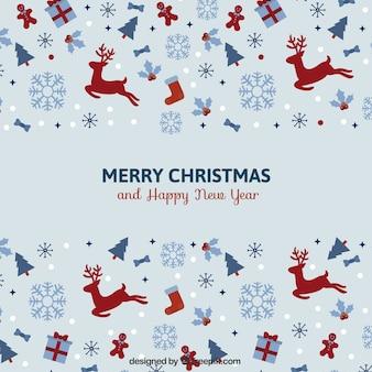 Cartão minimalista do Natal do vintage