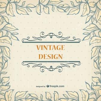 Cartão do molde livre do vintage