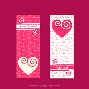 Banners dos namorados do vintage
