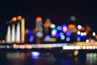Visão turva cidade