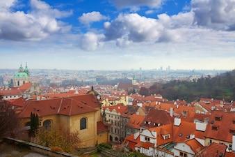 Vista de cima de Praga