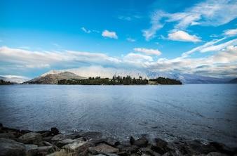Vista de Queenstown Nova Zelândia