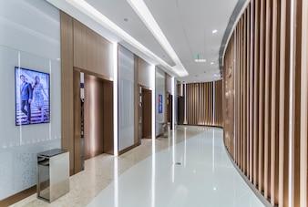 Vista interior do hotel
