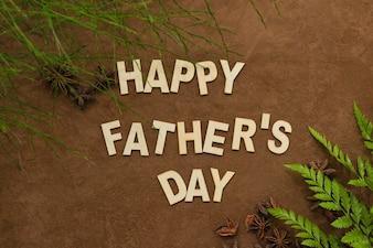 Vista, pai, dia, composição, decorativo, plantas