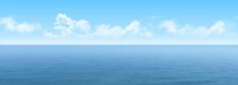 Vista panorâmica do mar