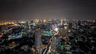 Vista superior de Banguecoque, capital de Tailândia